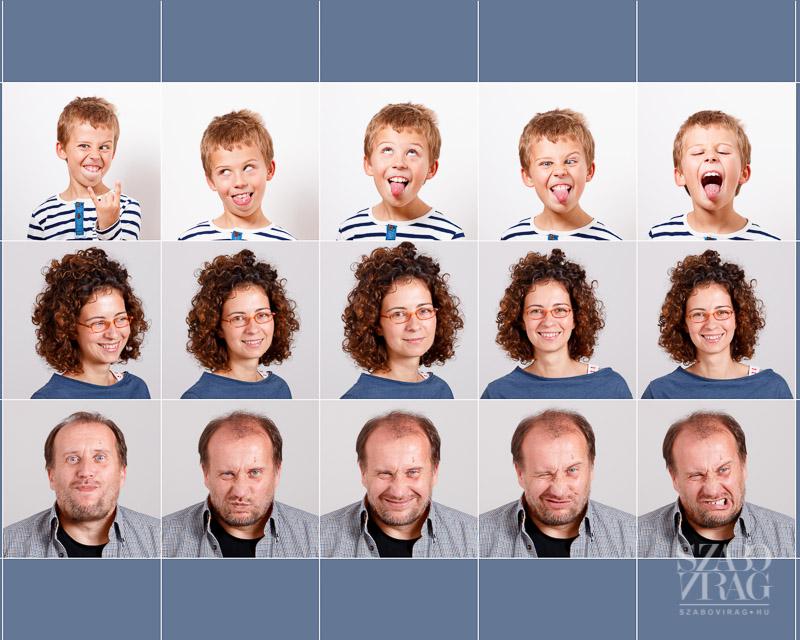 családi fotómontázs